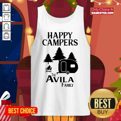 Awesome Happy Campers The Avila Family Tank Top - Design by handstee.com