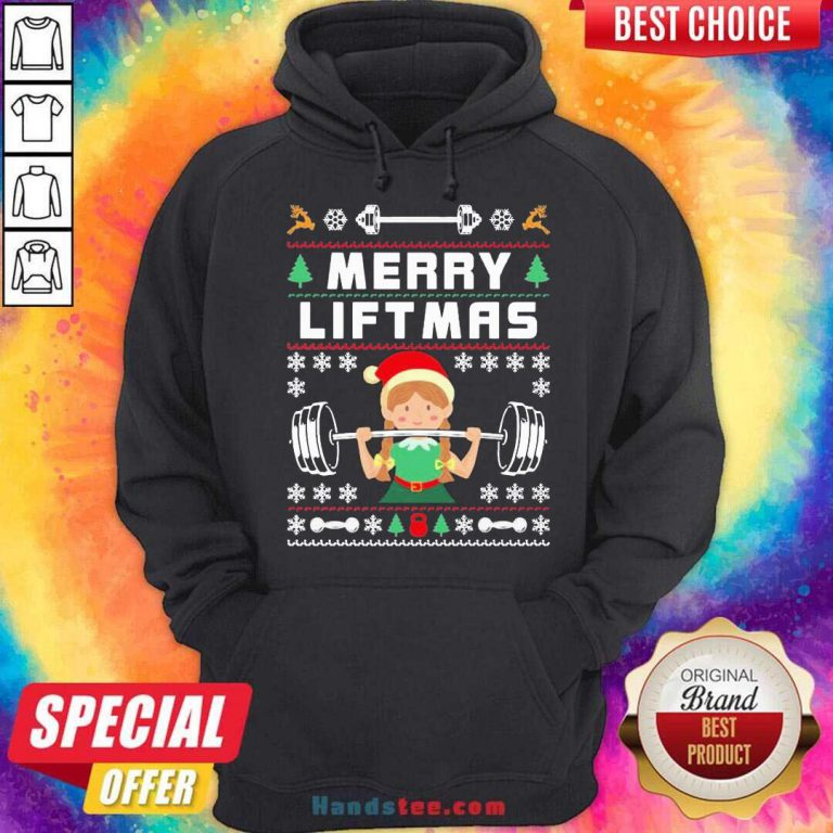 Merry Liftmas For Girls Women Christmas Gym Lover Girl Hoodie- Design By Handstee.com