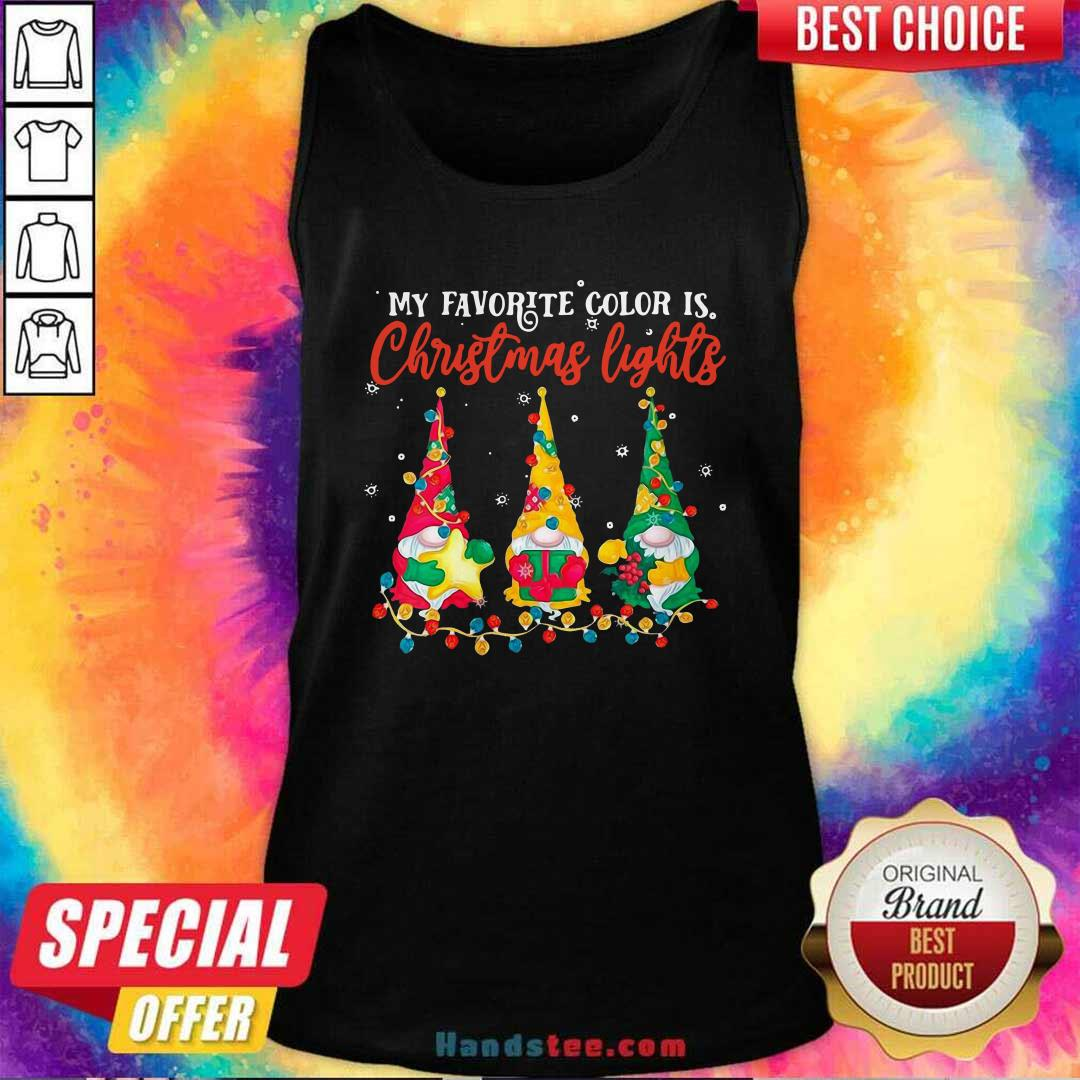 Awesome My Favorite Color Is Christmas Light Gnomes Merry Christmas Tank Top - Design by handstee.com