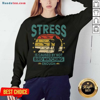 Stress Is Caused By Not Bird Watching Enough Vintage Sweatshirt- Design By Handstee.com