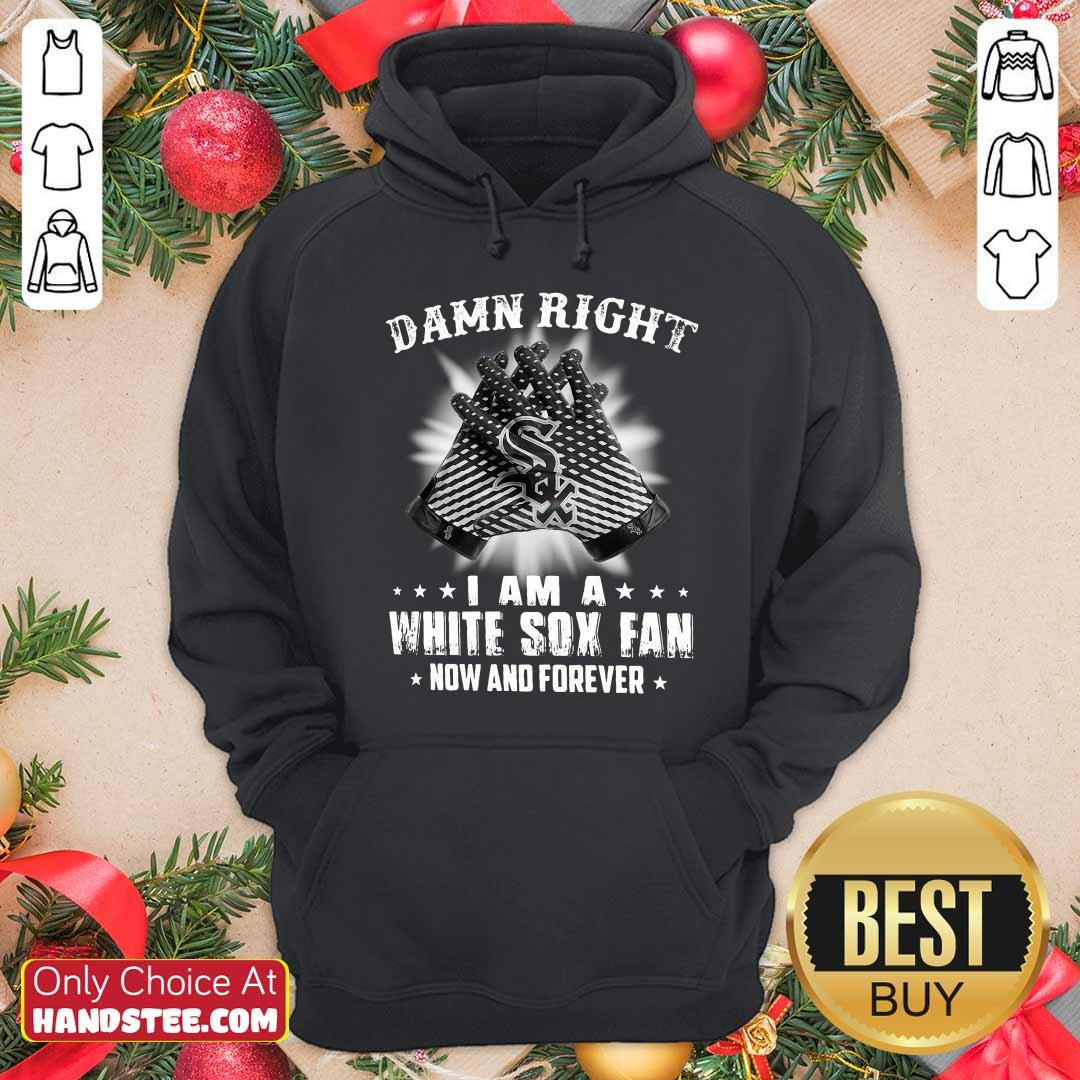 Damn Right I Am A White Sox Fan Now And Forever Stars Awesome Dont Cry 2020 Coin Hoodie- Design by handstee.com