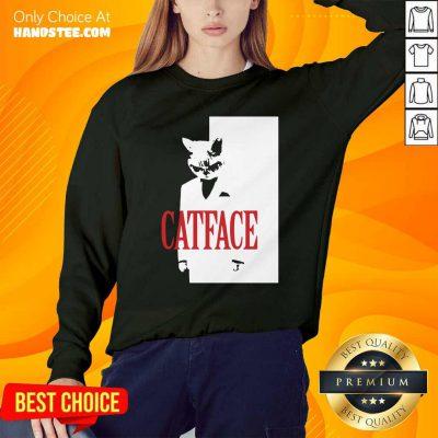 Funny Cat Face Sweatshirt - Design by handstee.com