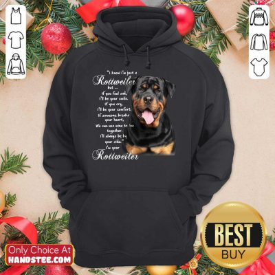 I Know I'm Just A Rottweiler But If You Feel Sad I'll Be Your Smile If You Cry Hoodie- Design By Handstee.com