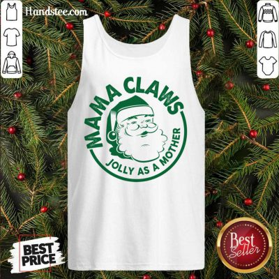 Mama Claus Jolly As A Mother Santa Claus Christmas Tank-Top- Design By Handstee.com