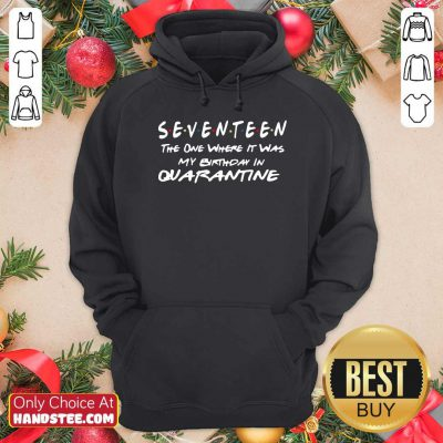 Funny Seventeen The One Where It Was My Birthday In Quarantine Hoodie - Design by handstee.com