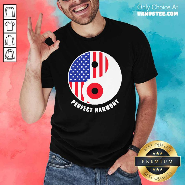 Funny USA Japan Ying Yang Heritage For Proud Japanese American Flag Shirt- Design by handstee.com