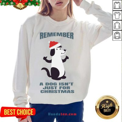 A Dog Isn't Just For Christmas Sweatshirt- Design By Handstee.com