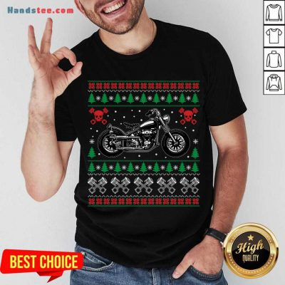 American Motorcycle Cool Biker Ugly Christmas Sweater Gift Shirt- Design By Handstee.com