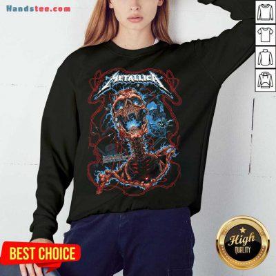 Metallica 30 12 2017 Birmingham England Genting Arena Sweatshirt- Design By Handstee.com