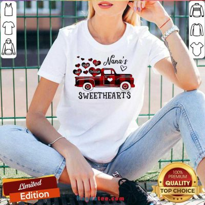 Nana's Sweethearts Truck Mike Vivian Lily Christian V-neck- Design By Handstee.com