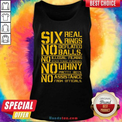 Good Six Real Rings No Deflated Balls No Illegal Filming Tank Top - Design by handstee.com