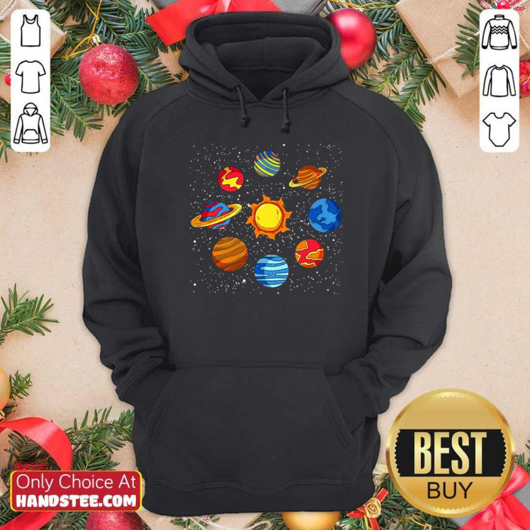 Good Universe Planets Gift Idea Science Lover Astronomy Hoodie- Design by handstee.com