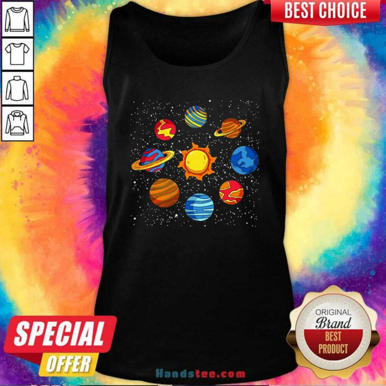 Good Universe Planets Gift Idea Science Lover Astronomy Tank Top- Design by handstee.com