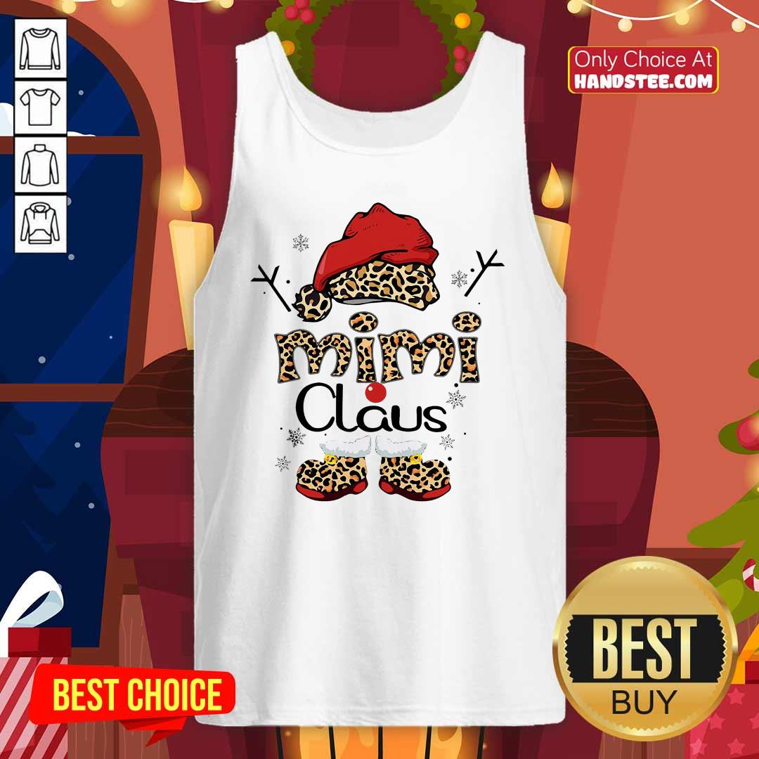 Leopard Mimi Claus Ugly Christmas Tank-Top- Design By Handstee.com