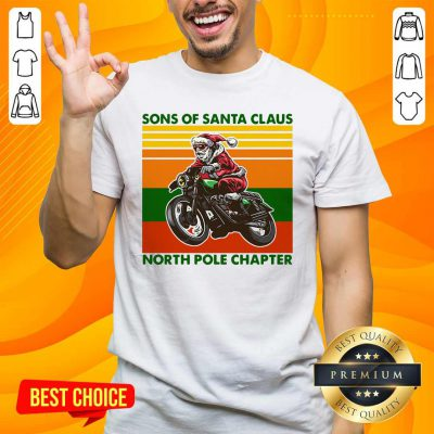 Nice Motorcycle Sons Of Santa Claus North Pole Chapter Christmas Shirt - Design by handstee.com