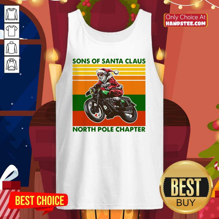 Nice Motorcycle Sons Of Santa Claus North Pole Chapter Christmas Tank Top - Design by handstee.com