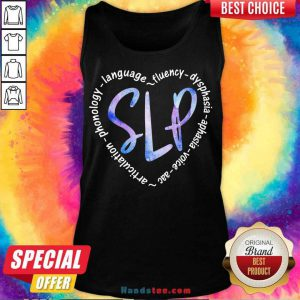 Slp Language Fluency Dysphasia Aphasia Voice Acc Tank-Top- Design By Handstee.com