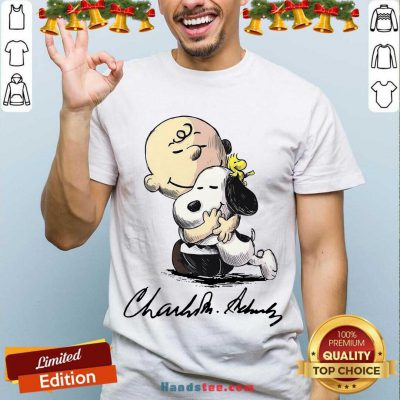 The Peanuts Snoopy Hug Charlie Brown And Woodstock Signature Shirt- Design By Handstee.com