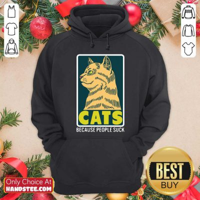 Official Cats Because People Suck Hoodie- Design by handstee.com