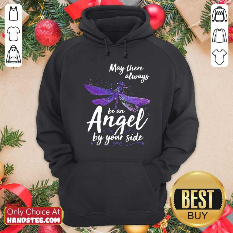 Official Dragonfly May There Always Be An Angel By Your Side Hoodie - Design by handstee.com