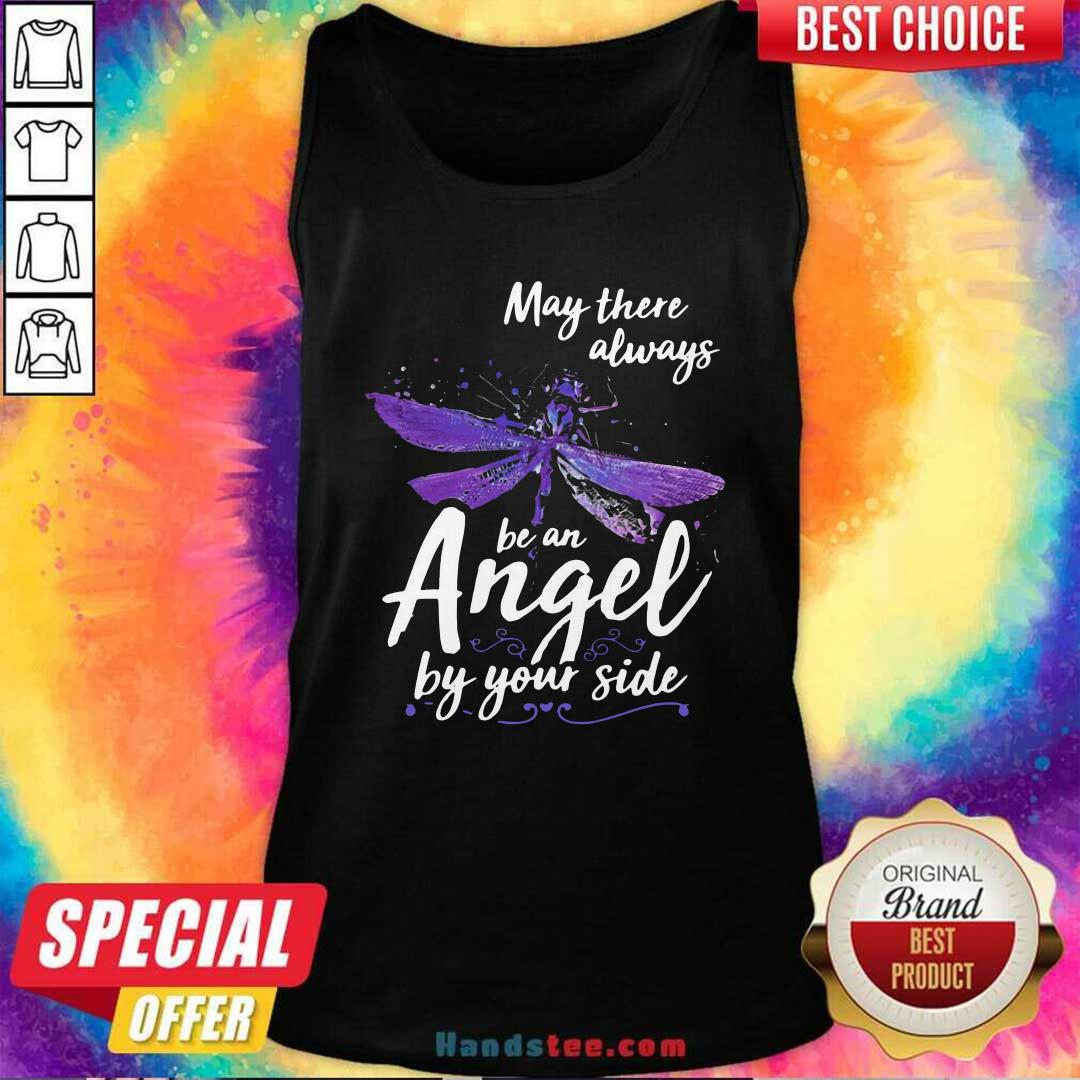 Official Dragonfly May There Always Be An Angel By Your Side Tank Top - Design by handstee.com
