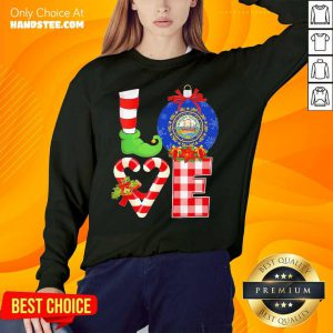 Elf Love Seal Of The State Of Hampshire 1776 Christmas Sweatshirt- Design By Handstee.com