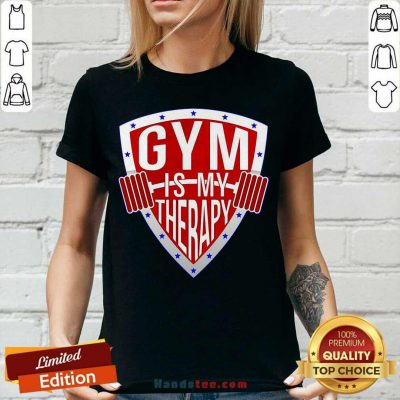 Gym Is My Therapy V-neck- Design By Handstee.com