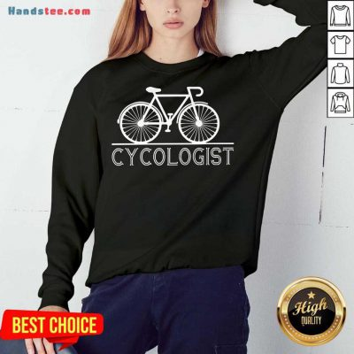 Hot The Bicycle Cycologist Sweatshirt- Design By Handstee.com