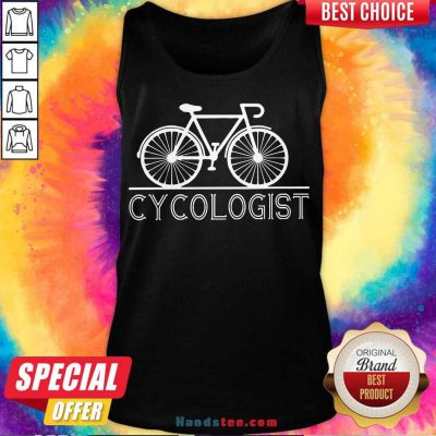 Hot The Bicycle Cycologist Tank-Top- Design By Handstee.com