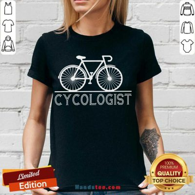 Hot The Bicycle Cycologist V-neck- Design By Handstee.com