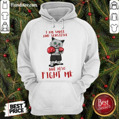 I Am Small And Sensitive But Also Fight Me Cat Boxing Hoodie- Design By Handstee.com