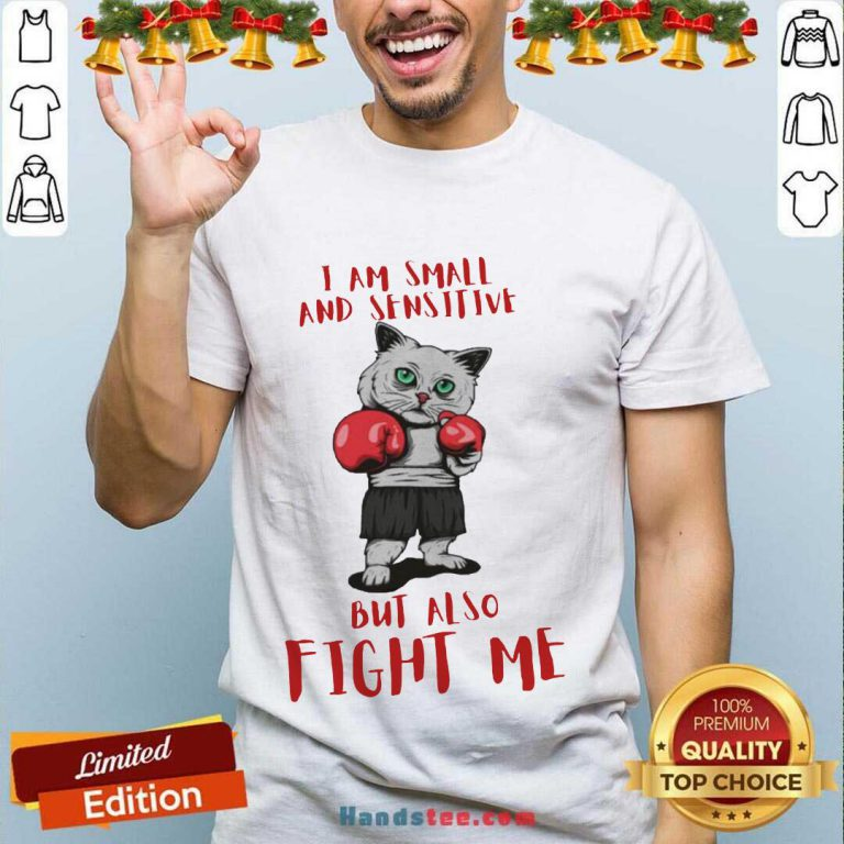 I Am Small And Sensitive But Also Fight Me Cat Boxing Shirt- Design By Handstee.com