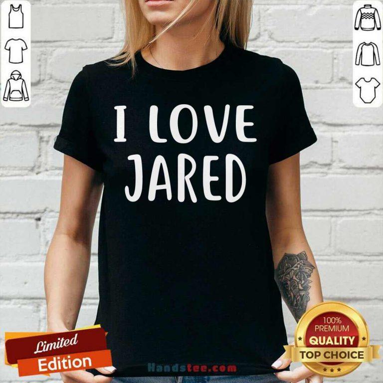 Official I Love Jared V-neck - Design by handstee.com