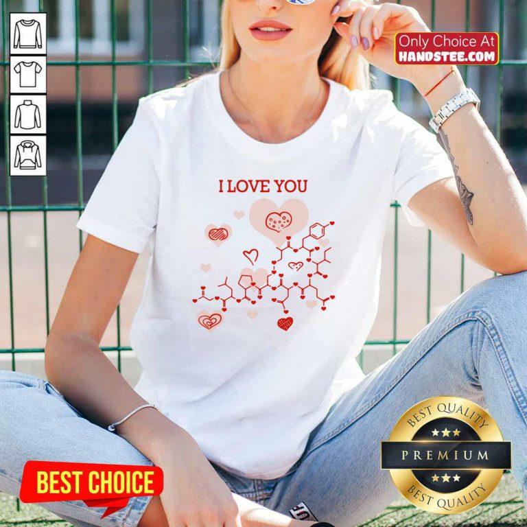 I Love You Oxytocin Hormone V-neck- Design By Handstee.com