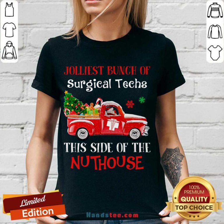 Jolliest Bunch Of Surgical Techs This Side Of The Nuthouse V-neck- Design By Handstee.com