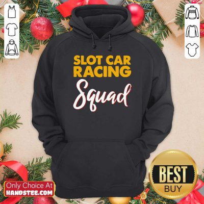 Official Slot Car Racing Squad Hoodie- Design by handstee.com