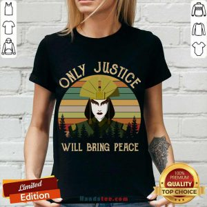 Avatar Kyoshi Only Justice Will Bring Peace Vintage V-neck- Design By Handstee.com