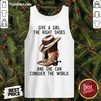 Give A Girl The Right Shoes And She Can Conquer The World Tank-Top- Design By Handstee.com