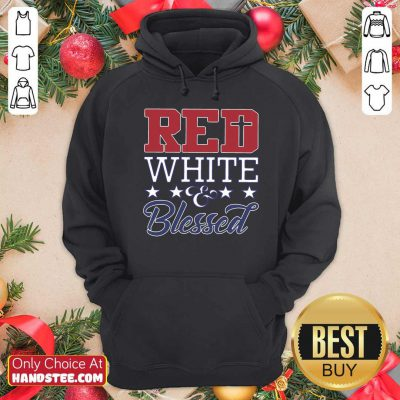 Original Red White And Blessed Vintage Hoodie - Design by handstee.com