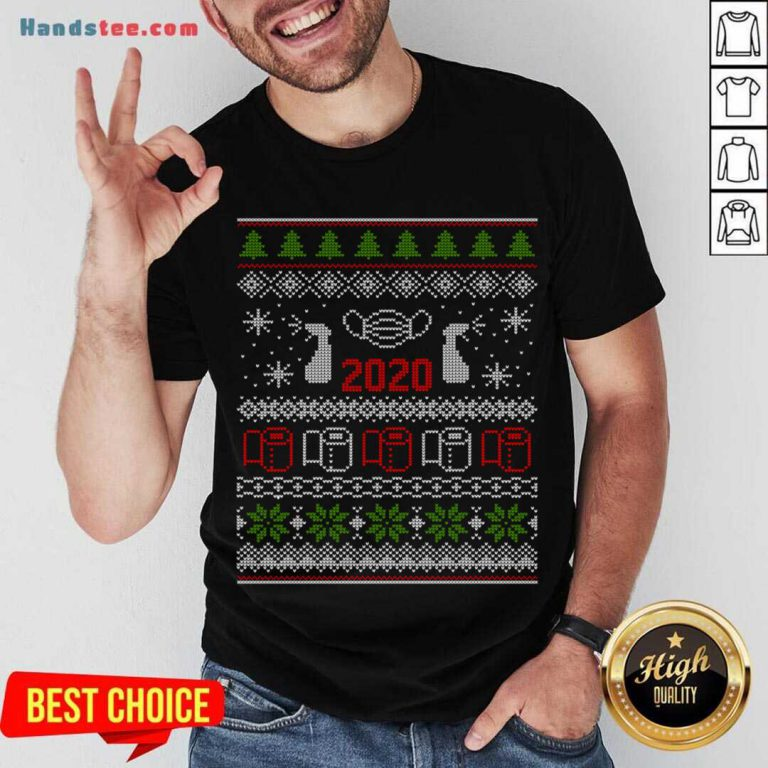 Ugly Christmas Sweater 2020 Toilet Paper Pandemic Funny Xmas Gifts Shirt- Design By Handstee.com