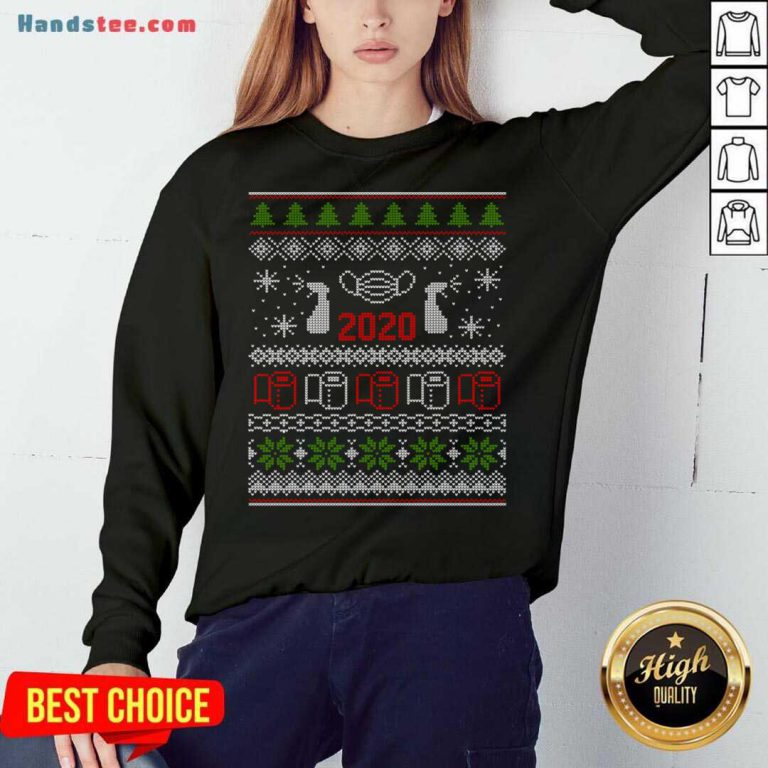Ugly Christmas Sweater 2020 Toilet Paper Pandemic Funny Xmas Gifts Sweatshirt- Design By Handstee.com