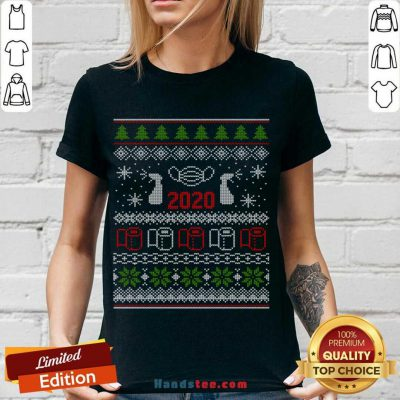 Ugly Christmas Sweater 2020 Toilet Paper Pandemic Funny Xmas Gifts V-neck Design By Handstee.com