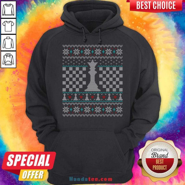 Queen Chess Piece Ugly Christmas Sweater Design Hoodie- Design By Handstee.com