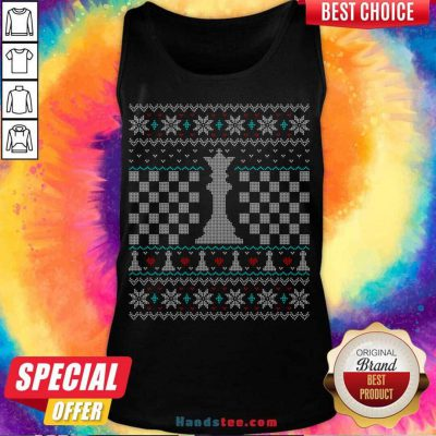 Queen Chess Piece Ugly Christmas Sweater Design Tank-Top- Design By Handstee.com