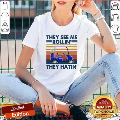 They See Me Rollin' They Hatin' Vintage V-neck Design By Handstee.com