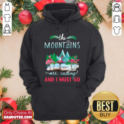 Premium Crane The Mountains Are Calling And I Must Go Hoodie - Design by handstee.com