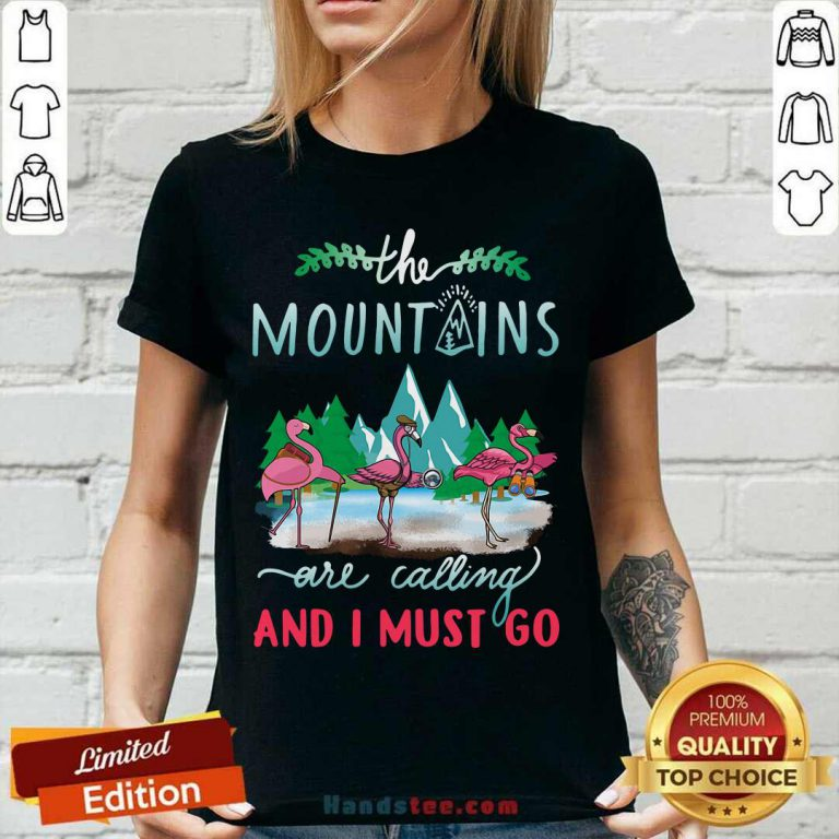 Premium Crane The Mountains Are Calling And I Must Go V-neck - Design by handstee.com