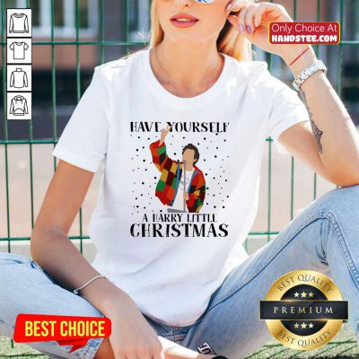 Premium Harry Styles Have Yourself A Harry Little Christmas 2020 V-neck - Design by handstee.com