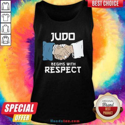 Premium Judo Begins With Respect Tank Top - Design by handstee.com