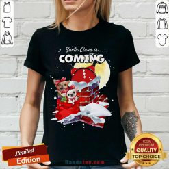 Chihuahua Santa Is Coming Gift For You Crewneck Ugly Christmas V-neck- Design By Handstee.com